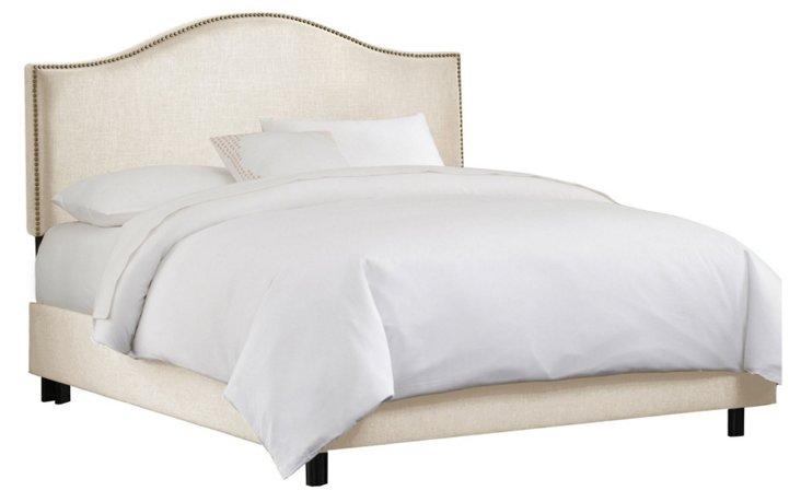 Tallman Arched Bed, Talc