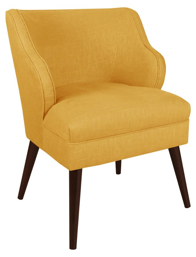 Kira Accent Chair, Yellow