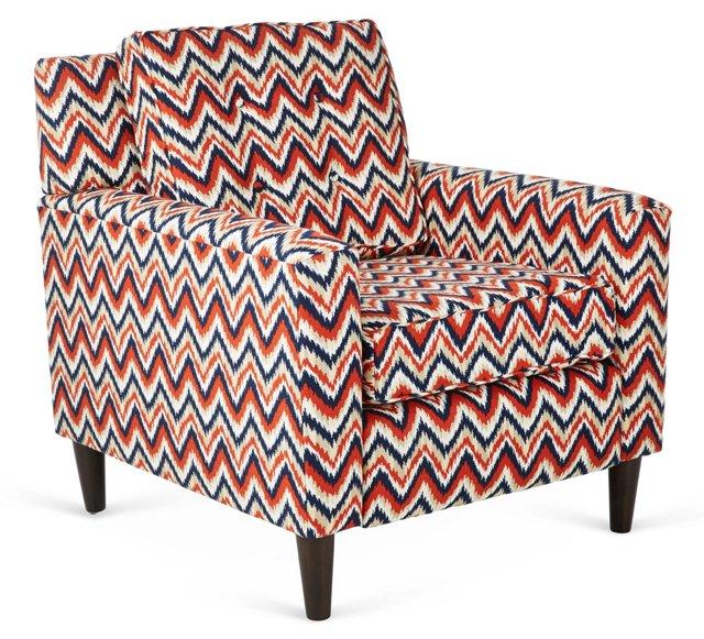 Winston Chair, Red Chevron