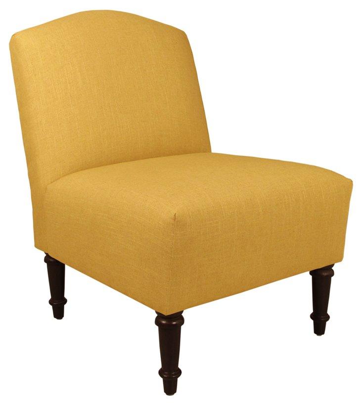 Clark Slipper Chair, Yellow
