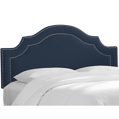 Bedford Headboard, Navy Linen
