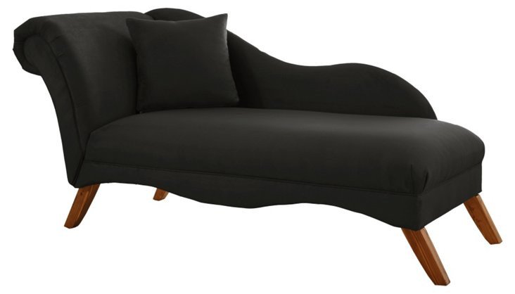 Ariel Chaise Lounge, Black