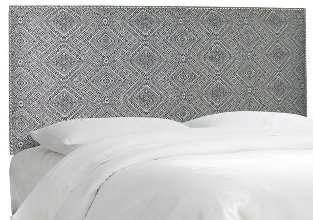 Loren Upholstered Headboard, Navy/White