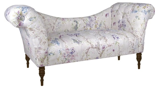 Cameron Tufted Chaise, Lavender