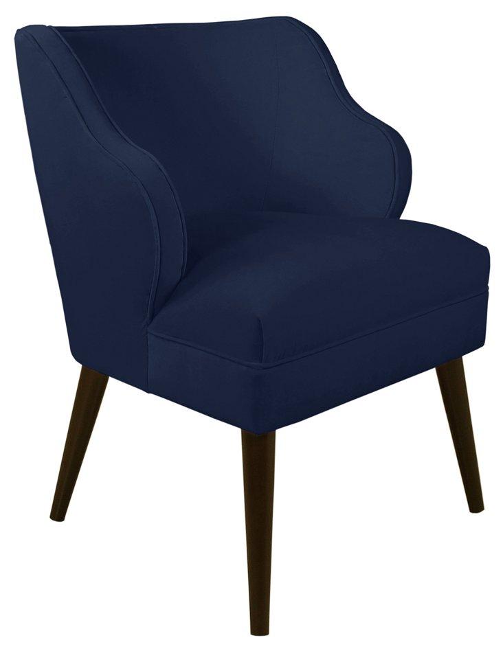 Kira Chair, Navy Velvet