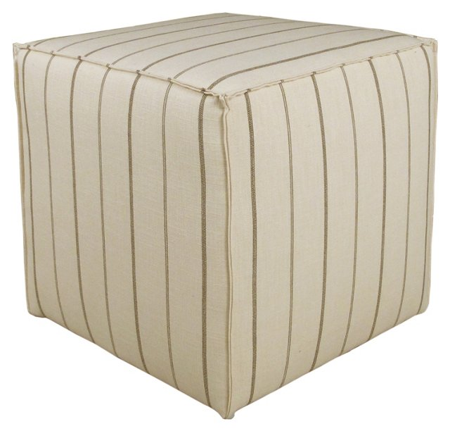Astair Striped Cube, Natural/Charcoal