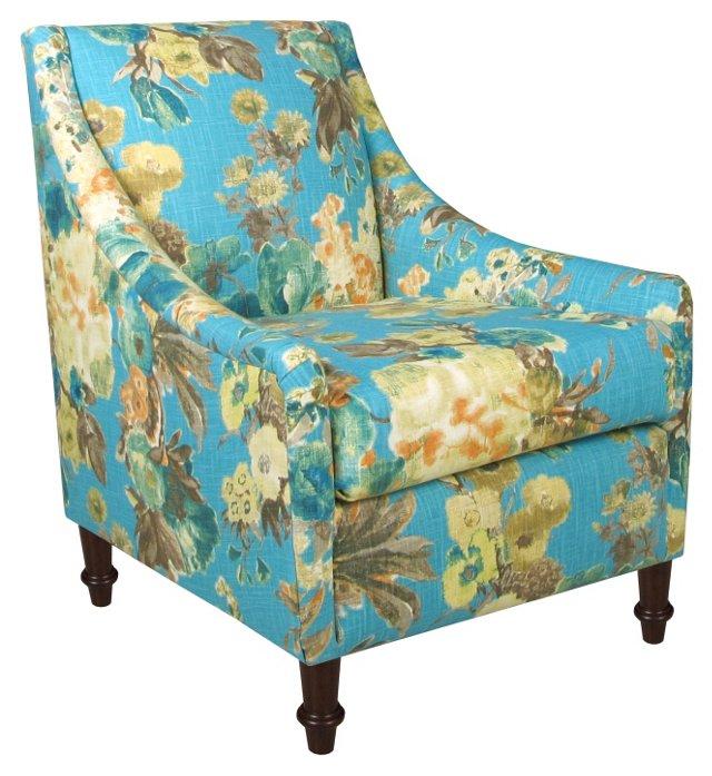 Holmes Accent Chair, Lagoon