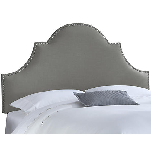 Hedren Headboard, Gray Linen