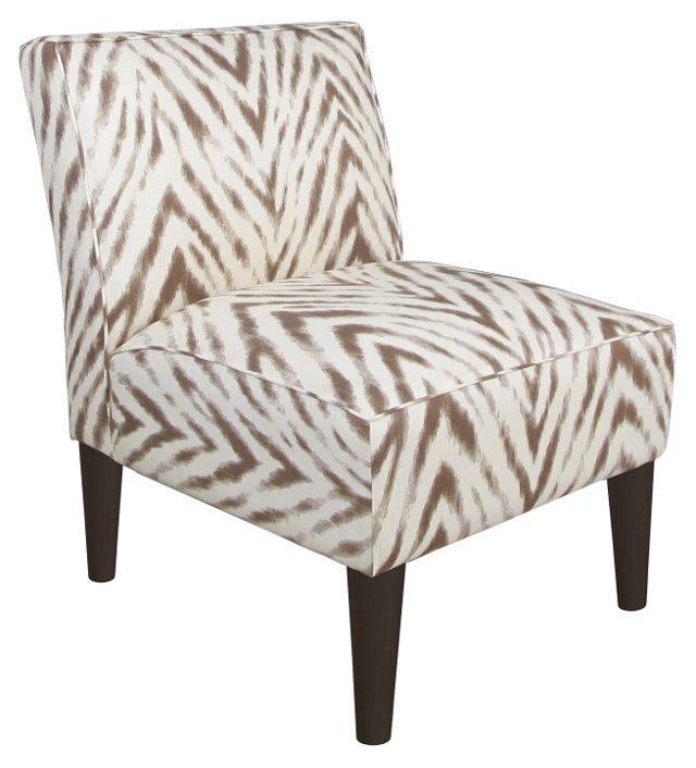 Finnegan Armless Linen Chair, Brown