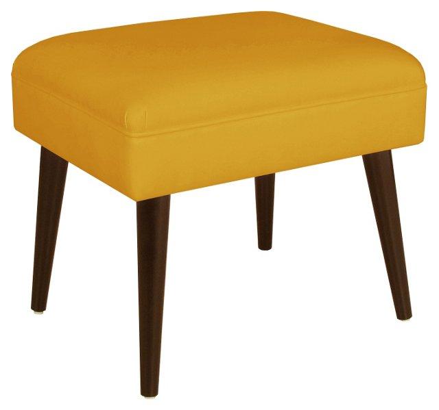 Brenna Modern Stool, Yellow Linen