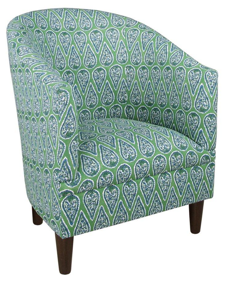 Ashlee Tub Chair, Turquoise