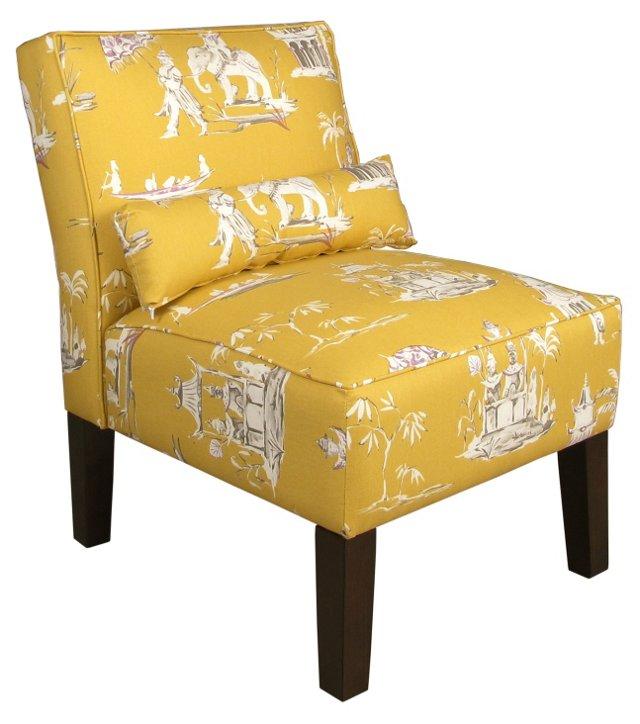 Bergman Armless Chair, Butterscotch