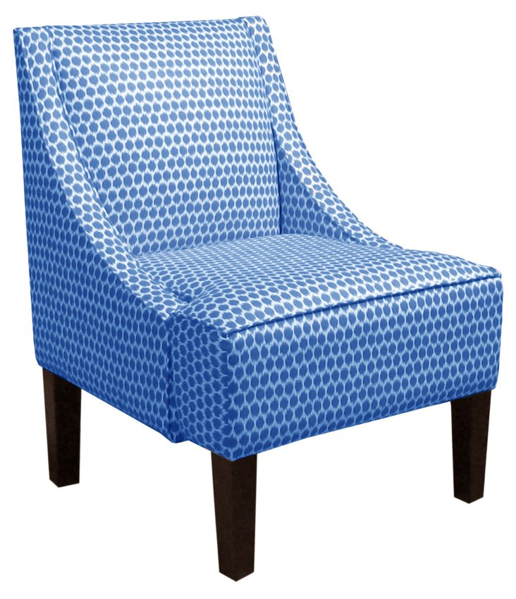 Fletcher Swoop-Arm Chair, Capri Dot