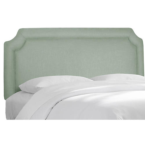 Morgan Headboard, Mint Linen