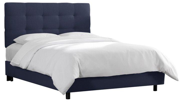 Brenna Pull Tuft Bed, Navy