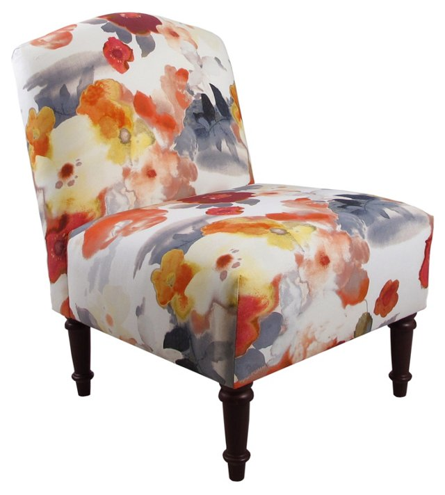 Clark Slipper Chair, Multi