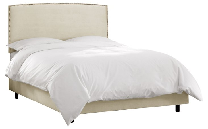 Everly Bed, Antiqued White