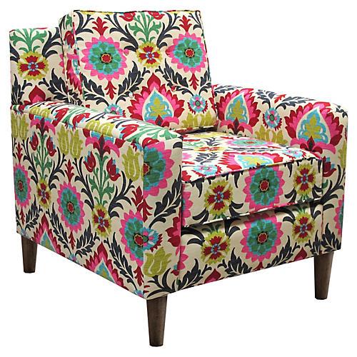 Winston Club Chair, Floral