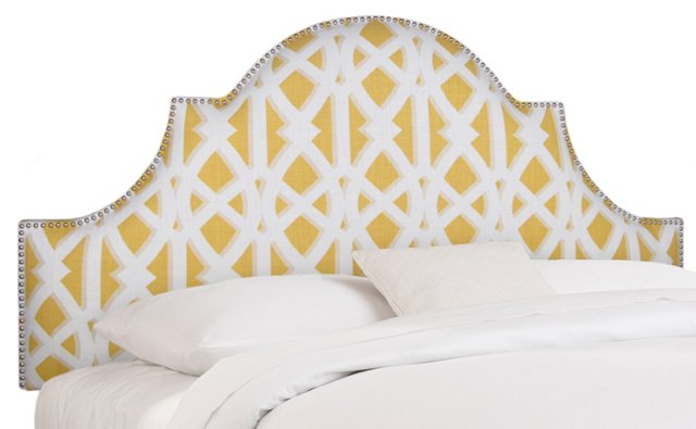 Hedren Headboard, Yellow/White