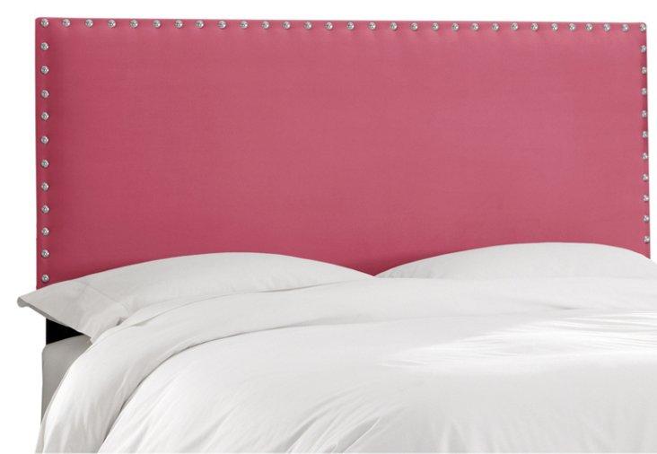 Loren Velvet Headboard, Pink