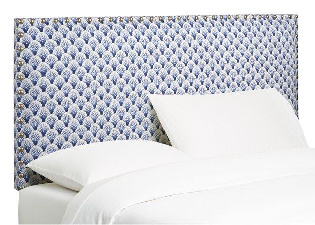 Upholstered Headboard, Blue