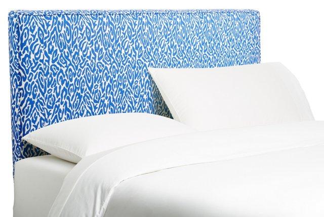 Macy Headboard, Blue Leopard