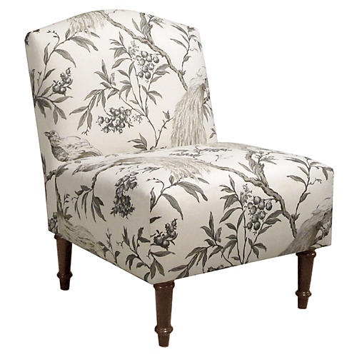 Clark Slipper Chair, Sepia