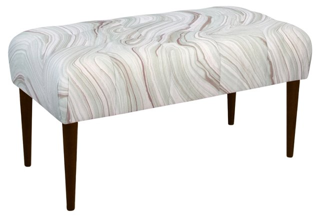 "Beau 39"" Bench, Dove Marble"