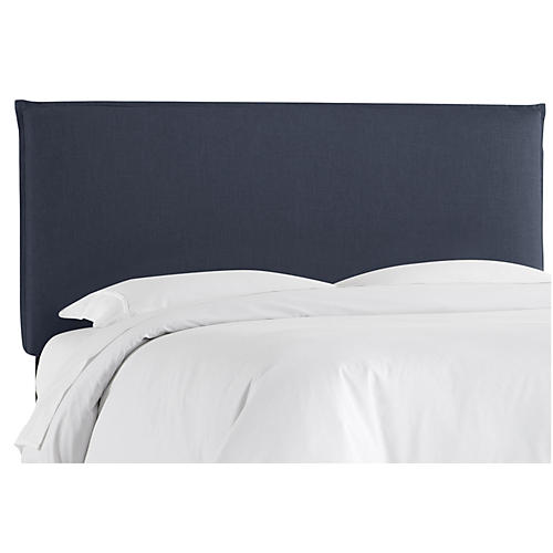 Frank Headboard, Navy Linen