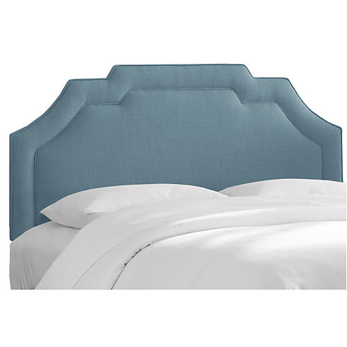 Lola Headboard, French Blue Linen