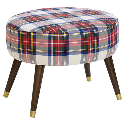 Dani Ottoman, Red Plaid
