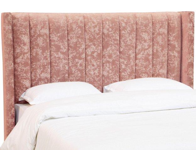 Rachel Headboard Pink Velvet Headboards Bedroom Furniture One Kings Lane
