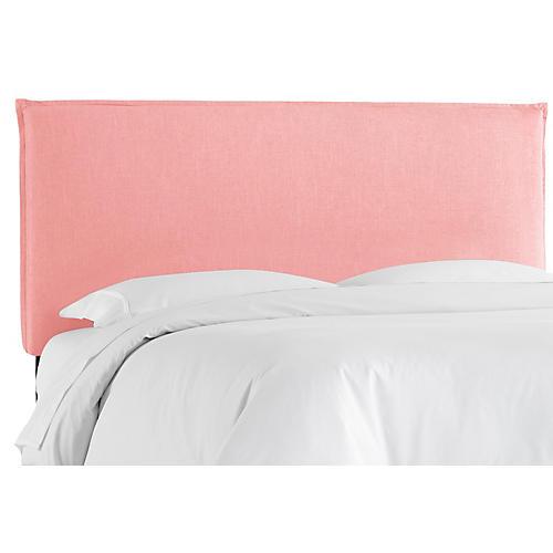 Frank Headboard, Pink Linen