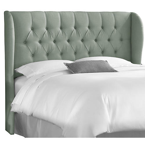 Reed Wingback Headboard, Mint