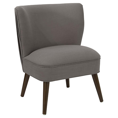 Erin Pleated Chair, Gray