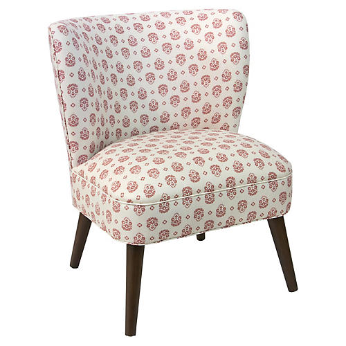 Bailey Accent Chair, Dusty Red