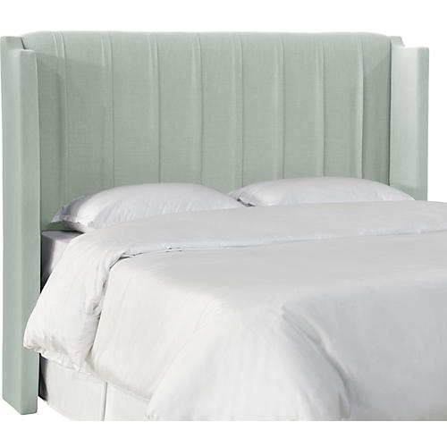 Margo Wingback Headboard, Mint