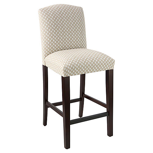 Indio Arched Barstool, Flax Dot