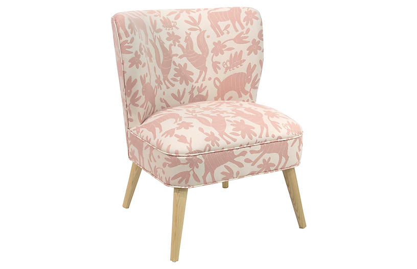 Bailey Chair - Pink/White