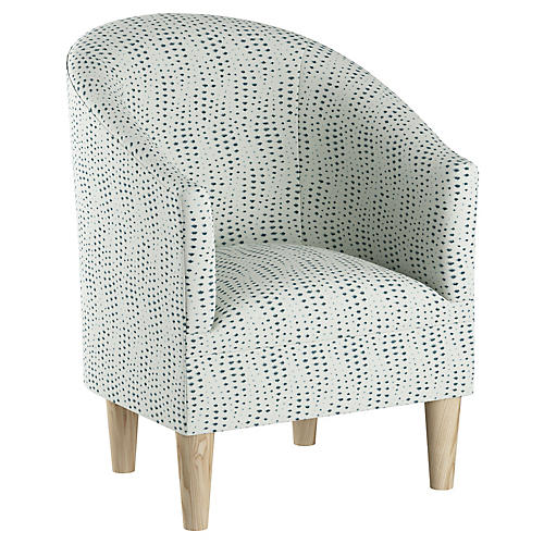 Ashlee Barrel Accent Chair, Blue