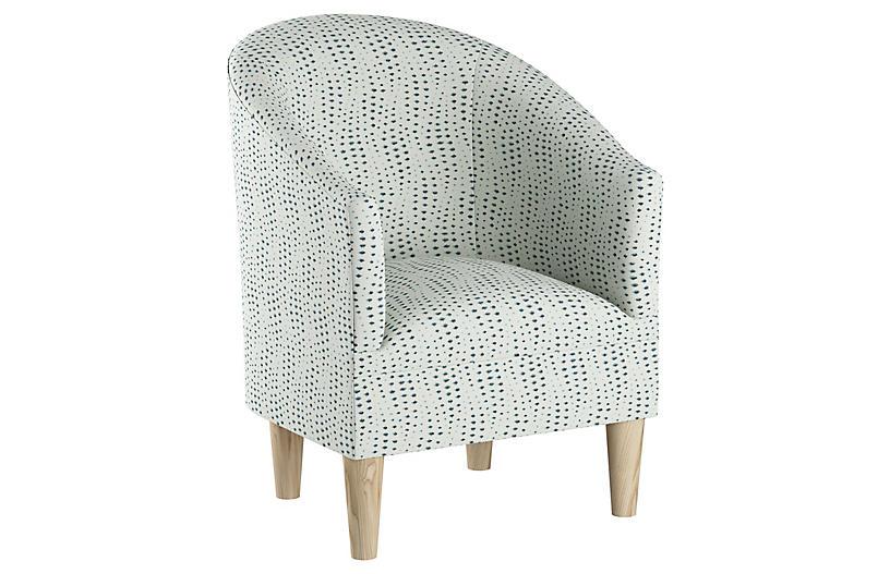 Ashlee Barrel Chair, Blue