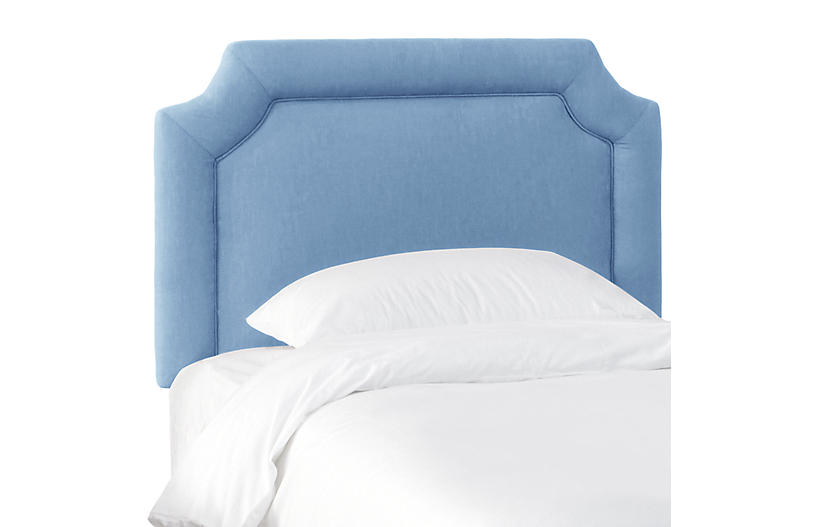 Morgan Kids' Headboard, French Blue Linen