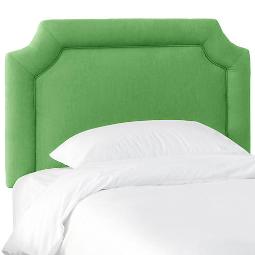 Morgan Kids' Headboard, Green Linen