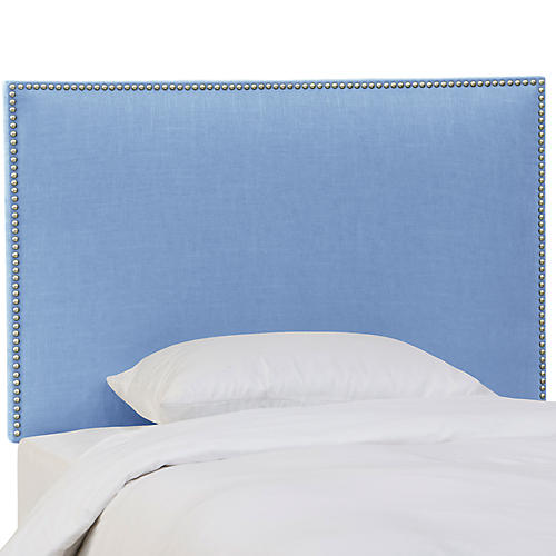 Loren Kids' Headboard, French Blue Linen