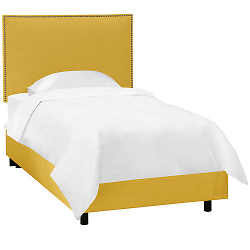 Loren Kids' Bed, Yellow Linen