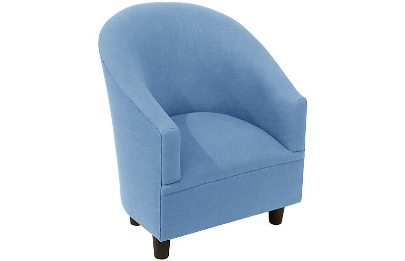 Ashlee Kids' Chair, French Blue Linen