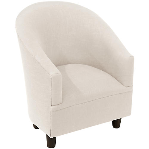 Ashlee Kids' Barrel Chair, Talc