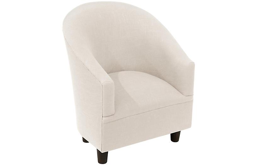 Ashlee Kids' Chair, Talc Linen