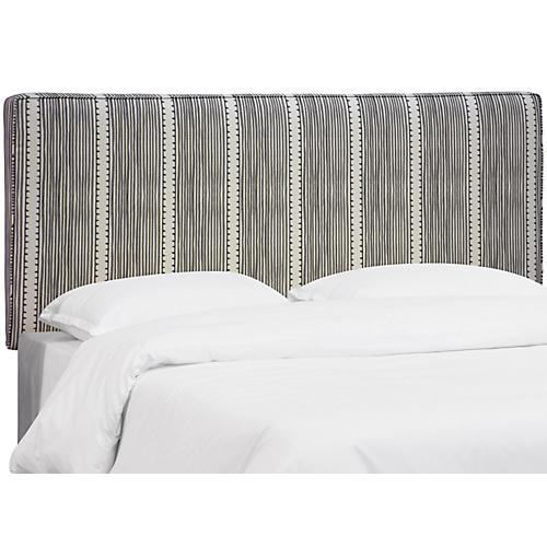 Macy Headboard, Charcoal Linen