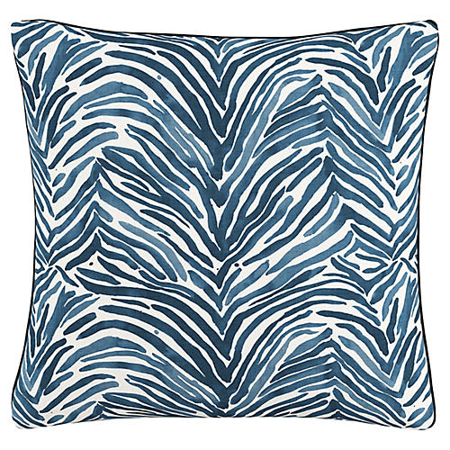 Israel 20x20 Pillow, Zebra Blue